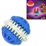 Dog Toy Balls for Pets Tooth Cleaning Chewing Toys Balls of Non-Toxic Soft Rubber , Small Size (Blue)