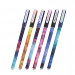 6 PCS / Sets of Fresh Style 0.38mm Neutral Pen Stationery School Office Supplies,Random Color Delivery