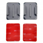 ST-12 2 x Curved Surface Adapters + 2 Adhesive Mount Stickers for GoPro HERO4 / 3+ / 3 / 2 / 1(Grey)