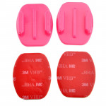 ST-12 2 Flat Surface Adapters + 2 Adhesive Mount Stickers for GoPro HERO4 / 3+ / 3 / 2 / 1(Pink)