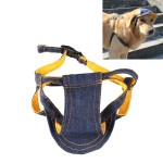 Denim Travel Pet Hat Outdoor Sports Breathable Hat Adjustable, Size: S