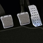 3 in 1 Stainless Steel Car Safety Manual Brake Pedals Pads for Honda