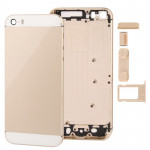 Full Housing Alloy Replacement Back Cover with Mute Button + Power Button + Volume Button + Nano SIM Card Tray for iPhone 5S (Li