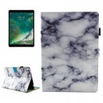 For iPad Pro 10.5 inch Black and White Marble Pattern Horizontal Flip Leather Protective Case with Holder & Card Slots & Wallet