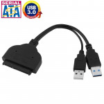 USB 3.0 to SATA 22 Pin 2.5 inch HDD Adapter with USB Power Cable, Length: 20cm