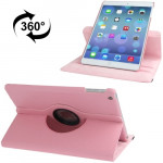360 Degree Rotation Litchi Texture Leather Case with 3 Gears Holder & Sleep / Wake-up Function for iPad Air (Pink)