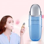 Nanum Facial Beauty Hydrating Massager Mini Skin Care Water Spraying Misting Humidifier(Blue)