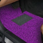 Universal Car Anti-slippery Rubber Mat PVC Coil Soft Floor Protector Carpet(Purple)