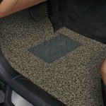 Universal Car Anti-slippery Rubber Mat PVC Coil Soft Floor Protector Carpet(Brown)