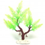 Artificial Tree Plant Grass Figurines Miniatures Aquarium Fish Tank Landscape, Size: 22.0 x 24.0cm