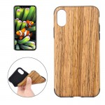 For iPhone 8 Teak Wood Texture TPU Shockproof Protective Back Cover Case,Small Quantity Recommended Before iPhone 8 Launching