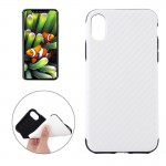 For iPhone 8 Carbon Fiber TPU Shockproof Protective Back Cover Case,Small Quantity Recommended Before iPhone 8 Launching(White)