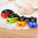 4 PCS Creative Mouse Style Pencil Sharpeners Mechanical Machine School Stationery Office Supplies, Random Color Delivery