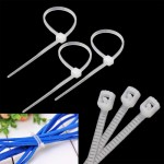 25cm Self-Locking Nylon Cable Wire Zip Ties (500pcs in one packing, the price is for 500pcs)(White)