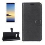 For Samsung Galaxy Note 8 Litchi Texture Horizontal Flip Leather Case with Holder & Card Slots & Wallet,Small Quantity Recommend