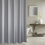 Thickening Waterproof And Mildew Curtain Honeycomb Texture Polyester Cloth Shower Curtain Bathroom Curtains,Size:120*200cm(Grey)