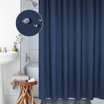 Thickening Waterproof And Mildew Curtain Honeycomb Texture Polyester Cloth Shower Curtain Bathroom Curtains,Size:220*200cm(Dark