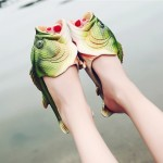 Fish Style EVA Material Summer Beach Sandals Simulation Fish Beach Slippers for Children and Women, Size: 37#