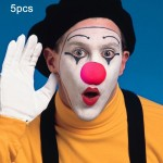 Rouge 5 PCS Halloween Costume Party Props Éponge Clown Nose - Wewoo