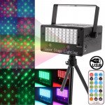2-color Holographic Laser Stage Lighting Fireworks Projector with MP3 Player Function / Colorful LED Light Panel / Remote Contro