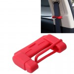 Universal Adjustable Car Seat Belt Buckle Plug Protective Cover Case(Red)