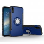 For iPhone 8 Magnetic 360 Degree Rotation Ring Armor Protective Case, Small Quantity Recommended Before iPhone 8 Launching(Blue)
