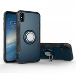 For iPhone 8 Magnetic 360 Degree Rotation Ring Armor Protective Case, Small Quantity Recommended Before iPhone 8 Launching(navy)