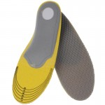 Elasticity Orthotic Arch Support Shoe Pad Sport Running Insoles Cushion for Women, Size: 35-40(Grey)