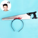 Halloween Costume Party Whole Horror Wear Head Props Saw Hair Hoop Game Show Supplies
