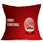 Christmas Festival Pattern Car Sofa Pillowcase with Decorative Head Restraints Home Sofa Pillowcase, M, Size:43*43cm