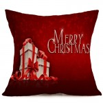 Christmas Festival Pattern Car Sofa Pillowcase with Decorative Head Restraints Home Sofa Pillowcase, A, Size:43*43cm