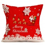 Christmas Festival Pattern Car Sofa Pillowcase with Decorative Head Restraints Home Sofa Pillowcase, F, Size:43*43cm