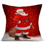 Christmas Festival Pattern Car Sofa Pillowcase with Decorative Head Restraints Home Sofa Pillowcase, K, Size:43*43cm