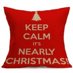 Christmas Festival Pattern Car Sofa Pillowcase with Decorative Head Restraints Home Sofa Pillowcase, L, Size:43*43cm