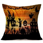 Halloween Decoration Pattern Car Sofa Pillowcase with Decorative Head Restraints Home Sofa Pillowcase, C, Size:43*43cm