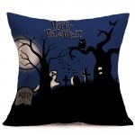Halloween Decoration Pattern Car Sofa Pillowcase with Decorative Head Restraints Home Sofa Pillowcase, D, Size:43*43cm