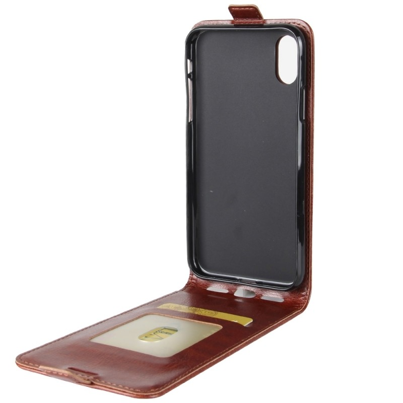 coque en cuir rouge iphone x