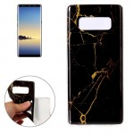 For Samsung Galaxy Note 8 Black Marble Pattern TPU Shockproof Protective Back Cover Case