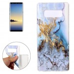 For Samsung Galaxy Note 8 Blue Marble Pattern TPU Shockproof Protective Back Cover Case