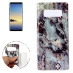 For Samsung Galaxy Note 8 Brown Marble Pattern TPU Shockproof Protective Back Cover Case