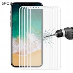 5 PCS ENKAY Hat-Prince for iPhone 8 0.26mm 9H Surface Hardness 2.5D Explosion-proof Full Screen Tempered Glass Screen Film, Smal