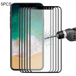 5 PCS ENKAY Hat-Prince for iPhone 8 0.2mm 9H Surface Hardness 3D Explosion-proof Full Screen Carbon Fiber Soft Edges Tempered Gl