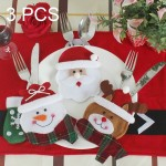 3 in 1 Christmas Decoration Round Face Style Cutlery Holders