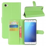vivo X9s Litchi Texture Horizontal Flip Leather Case with Holder & Card Slots & Wallet (Green)