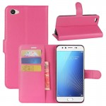 vivo X9s Litchi Texture Horizontal Flip Leather Case with Holder & Card Slots & Wallet (Magenta)