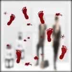 Halloween Festive Atmosphere Horrible Bloody Footprints DIY Wall Static Sticker Party Haunted Home Decoration, Size: 43*30cm