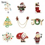 3 PCS Christmas Theme Fashion Women Brooch Gift Accessories, Random Style Delivery