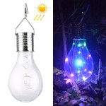 5 LEDs IP55 Waterproof Environment Friendly LED Solar Energy Copper Wire Bulb Hanging Lamp with Solar Panel (Colorful Light)
