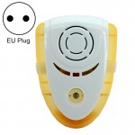 6W Electronic Ultrasonic Electromagnetic Wave Anti Mosquito Rat Insect Pest Repeller with Light, EU Plug, AC 90-240V(Yellow)