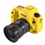 PULUZ Soft Silicone Protective Cover Case for Canon EOS 5D Mark III (5D3)(Yellow)